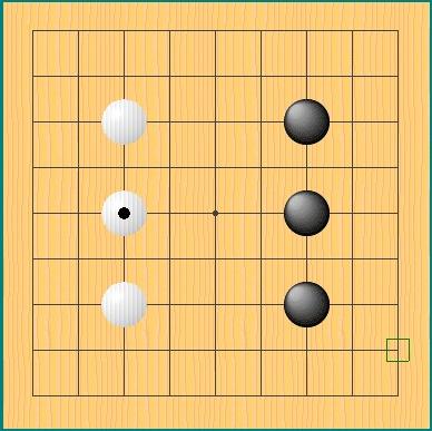 初心者同士の囲碁の棋譜例