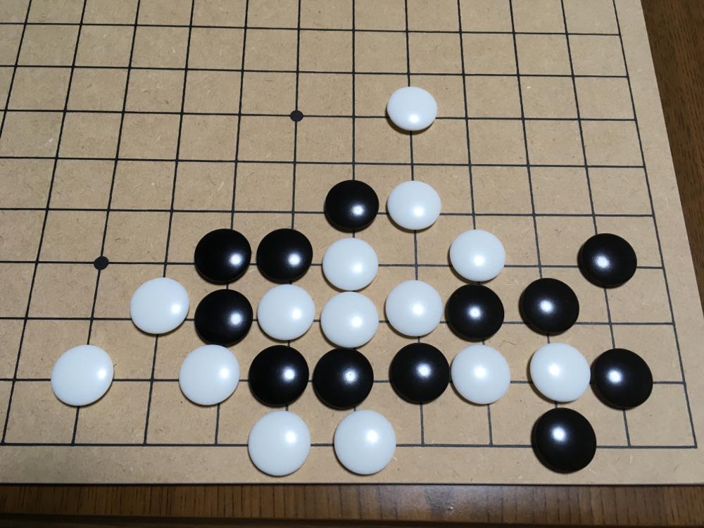詰碁を碁盤で再現