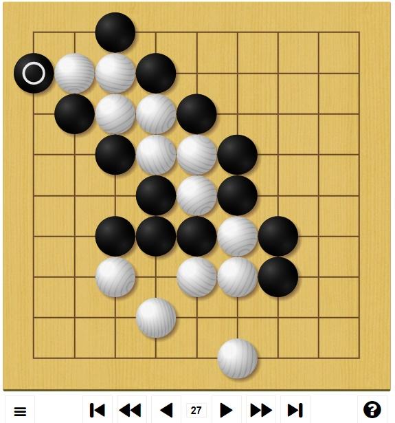 囲碁ゲームGo-Up! 初級編対局途中