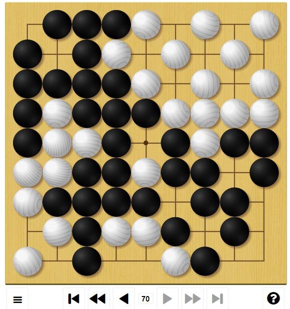 囲碁ゲームGo-Up! 中級編1局目