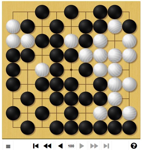 囲碁ゲームGo-Up! 中級編2局目